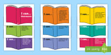 * NEW * LKS2 I Can Reading Statements on Books Display Posters