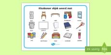 Klaskamer objek Woord mat