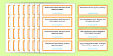 Common Core Third Grade Reading Informational Text Question Stem Cards USA