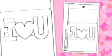 3D I Love You Pop Up Valentine Card