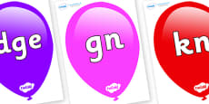Silent Letters on Balloons