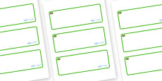 Jamaica Themed Editable Drawer-Peg-Name Labels (Blank)