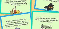 UKS2 Music Challenge Cards