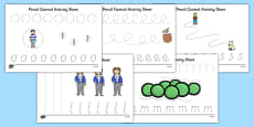 Oliver's Vegetables Pencil Control Path Sheets