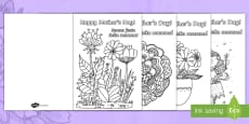 * NEW * Mother's Day Mindfulness Colouring Cards English/Italian