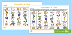 * NEW * Four in a Row (Animals) Game French