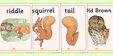 The Tale of Squirrel Nutkin Display Posters (Beatrix Potter)