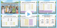 Year 3 Addition and Subtraction Warm-Up PowerPoint