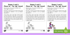 Linguistic Phonics Stage 5 and 6 Phase 3a, 'igh' Sound Activity Sheet