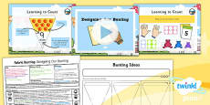 PlanIt - D&T KS1 - Fabric Bunting Lesson 2: Designing Our Bunting Lesson Pack