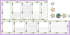 Twinkle, Twinkle, Little Star Page Borders Pack