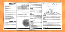 World Volcanoes Reading Comprehension Activity