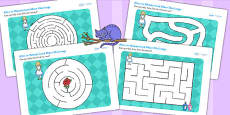 Alice in Wonderland Differentiated Maze Activity Sheet Pack