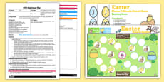 Easter Phase 3 Sounds Board Game EYFS Adult Input Plan and Resource Pack