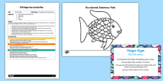 EYFS Foil Fish Scales Finger Gym Plan and Resource Pack to Support Teaching on The Rainbow Fish
