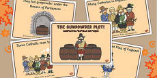 The Gunpowder Plot Story Sequencing Romanian Translation