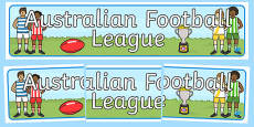Australian Football League Display Banner