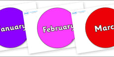 Months of the Year on Circles