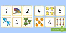 Sommer: Zahlen und Bilder 1 bis 10 Puzzle Spiel
