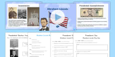 * NEW * Abraham Lincoln Resource Pack