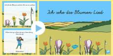 Ich sehe die Blumen Song PowerPoint