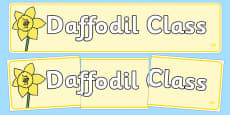 Daffodil Themed Classroom Display Banner