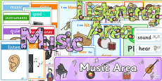 EYFS Music and Listening Area Classroom Set Up Pack