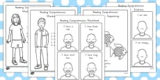 Reading Comprehension Activity Sheets