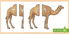 بطاقات الجَمل لمطابقة مكونات العدد 10