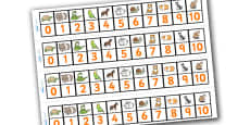Pets Number Track (1-10)
