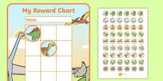 Dinosaur Sticker Reward Chart (30mm)