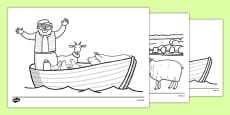 A Special Outing Colouring Sheets