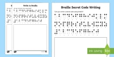 Write in Braille Activity Sheets