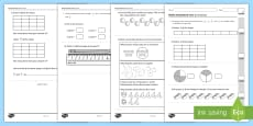 Year 2 Maths Assessment: Fractions Term 1
