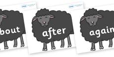 KS1 Keywords on Baa Baa Black Sheep