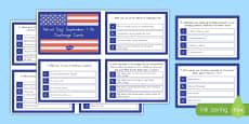 September 11th Quiz Cards USA