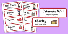 Florence Nightingale Word Cards Polish Translation