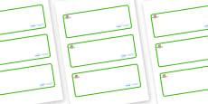 Farmyard Themed Editable Drawer-Peg-Name Labels (Blank)
