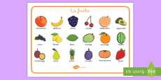 * NEW * Tapiz de vocabulario: La fruta