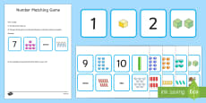 1-10 Number Matching Card Game