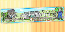 Australia - Food and Farming Topic Display Banner