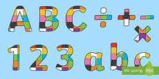 Patchwork Display Lettering to Support Teaching on Elmer