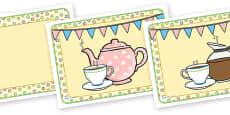 Tea Shop Role Play Place Mats