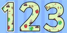 Isaac Newton Themed Display Numbers
