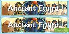 Ancient Egypt Display Banner