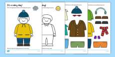 Dress the Person for the Weather Cut Out Activity