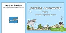 * NEW * Year 3 Non Fiction Shark Infested Reading Assessment Resource Pack