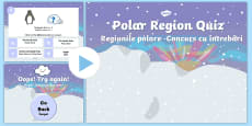 Polar Regions Animal Habitats Quiz PowerPoint English/Romanian