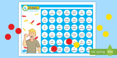 * NEW * Four in a Row Future Tense Self Checking Board Game - Spanish