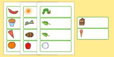 Etiquetas editables para ayudar la enseñanza de: La oruga glotona